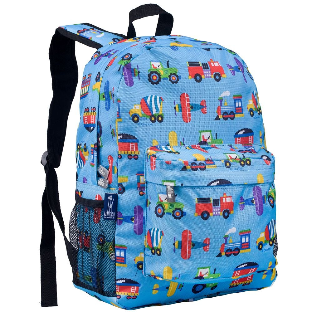 Trains, Planes, Trucks 16 Inch Backpack