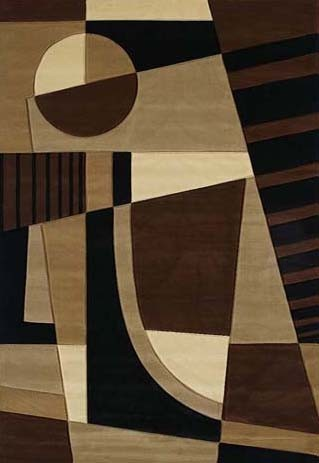 Urban Angles Toffee Area Rug - Modern Style Area Rug Style