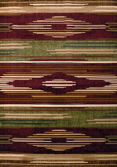 Native Chic Burgundy Area Rug - Southwestern Style Area Rug