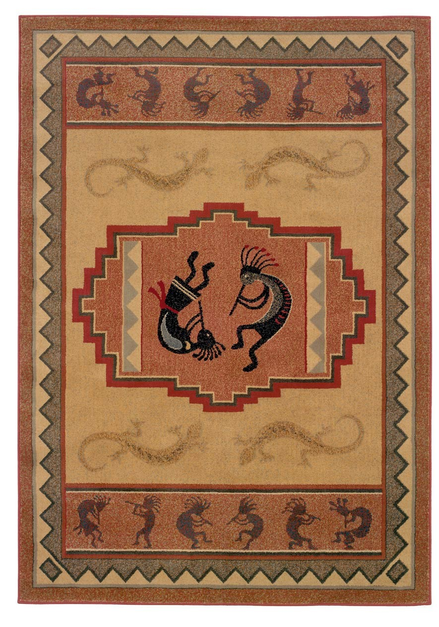 Ancient Icon Natural Area Rug - Southwestern Style Area Rug