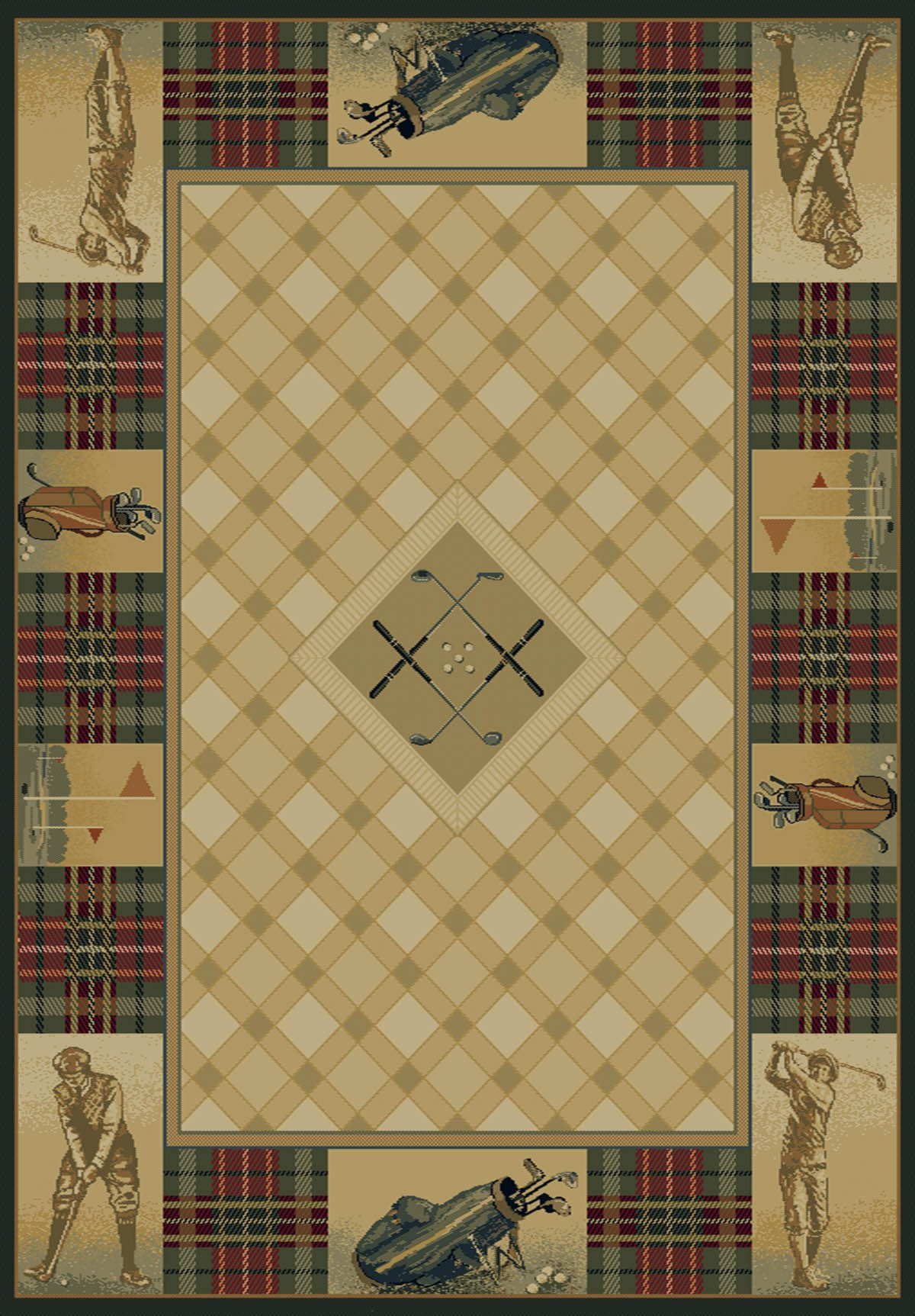 Classic Open Natural Area Rug - Cabin Style Area Rug