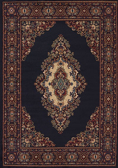 Cathedral Navy Area Rug - Traditional Style Area Rug