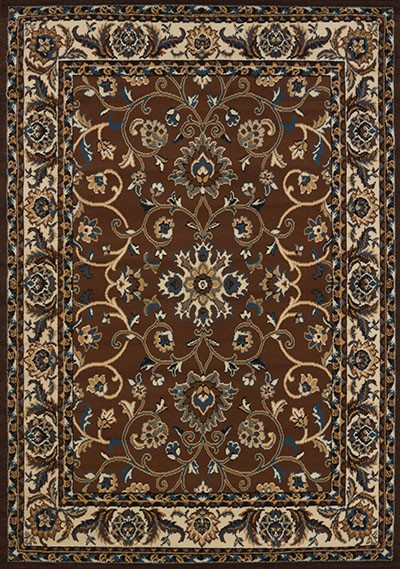 Columbia Brown Area Rug - Traditional Style Area Rug