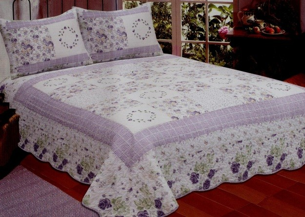 Lilac Fields Purple Quilt American Hometex Quilts King