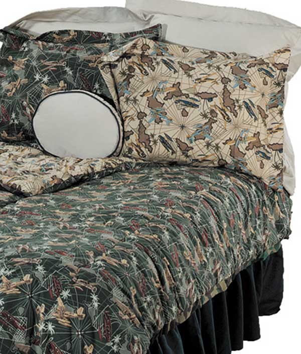 Flying Tigers Twin Size Bunkbed Hugger Comforter by California Kids