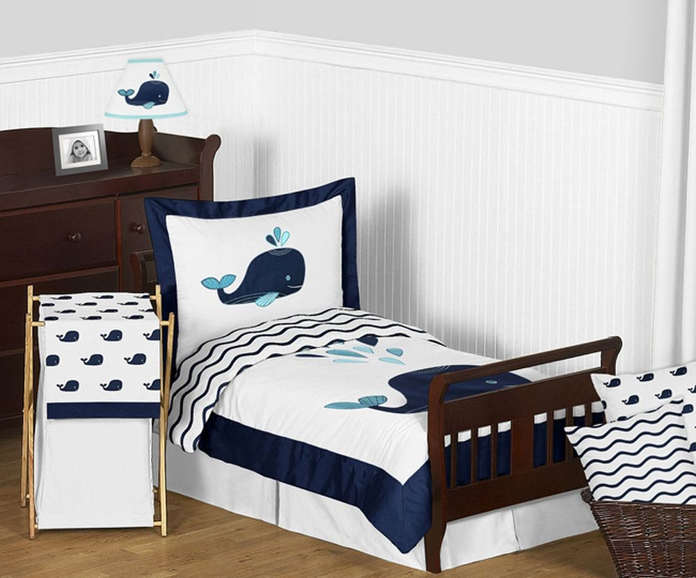 Whale Toddler Bedding Set By Sweet Jojo Designs