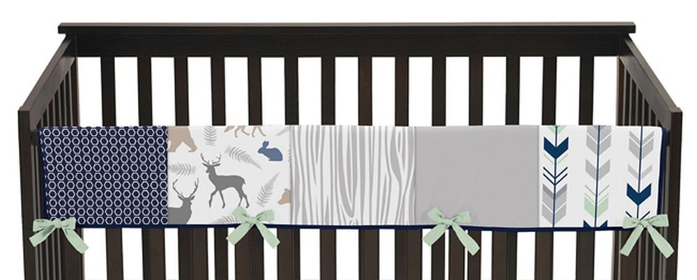 Woodsy Navy, Mint & Grey Collection Long Rail Guard Cover