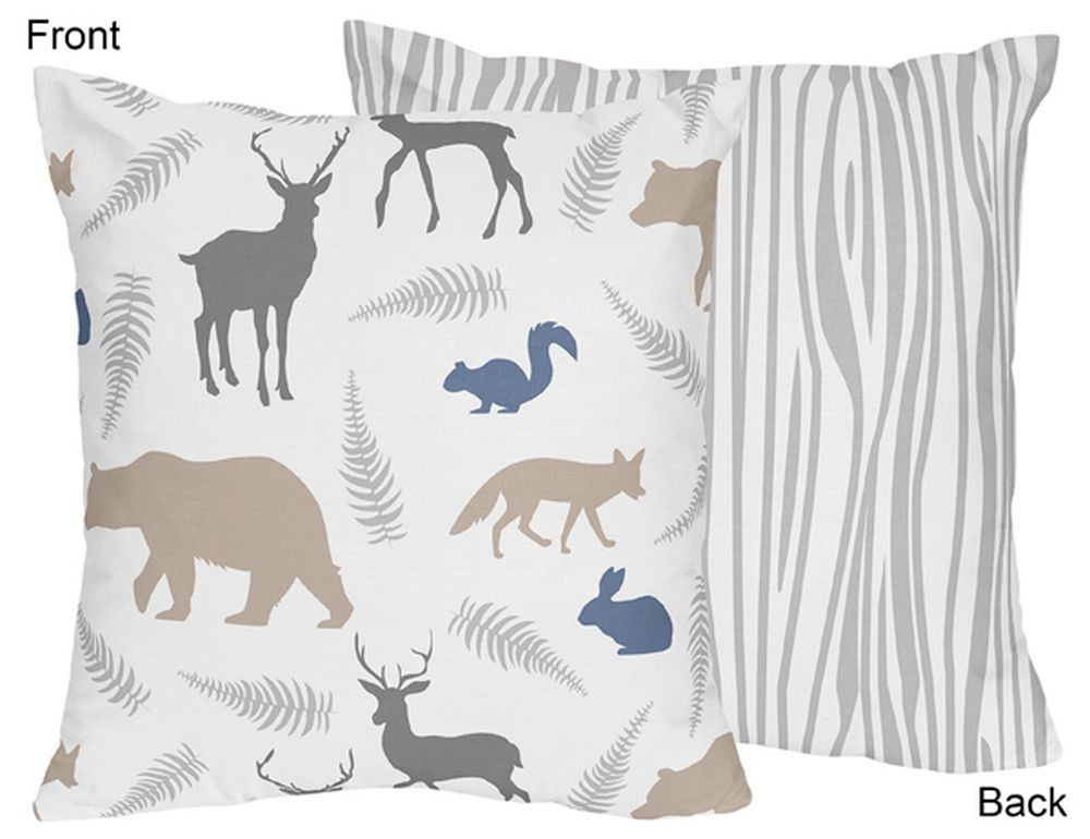 Woodland Animals Accent Pillow