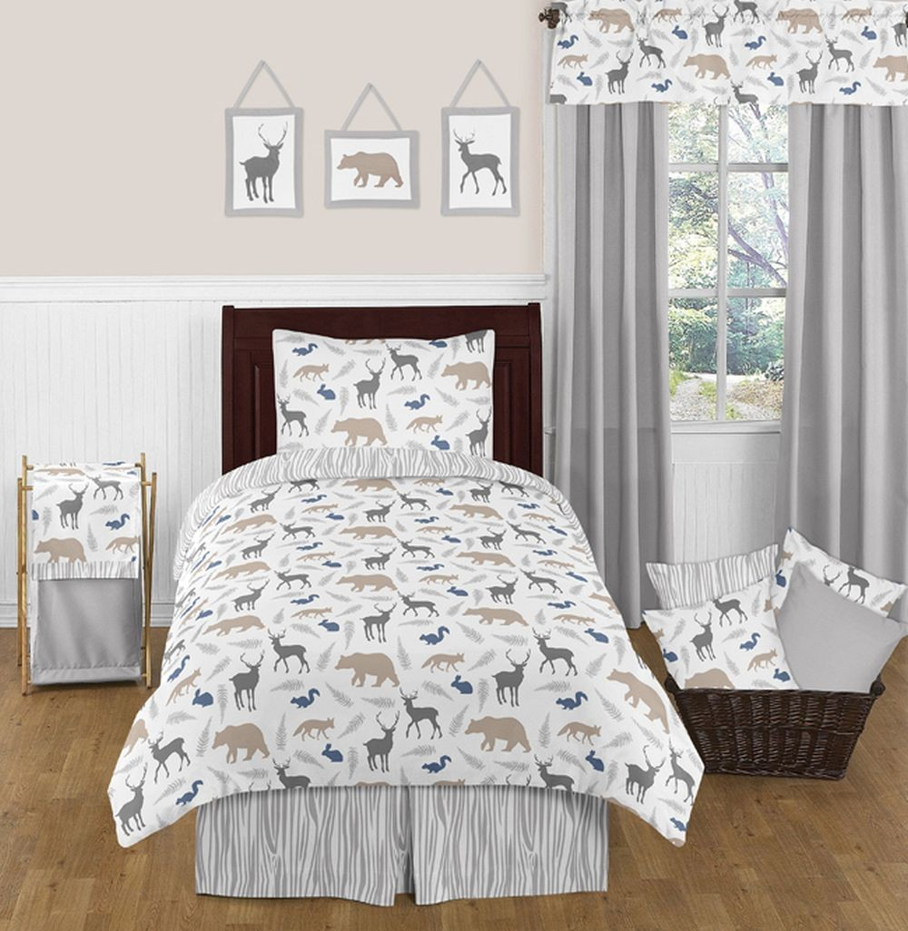 Woodland Animals Bedding Set - 4 Piece Twin Size By Sweet Jojo Designs