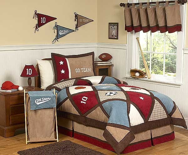 All Star Sports Comforter Set 3 Piece Full Queen Size By