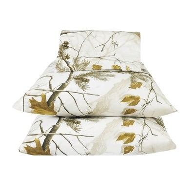 AP Black and White Camouflage Sheet Set - Extra Long Twin