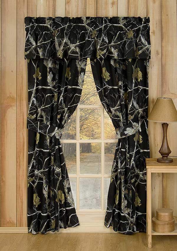 AP Black and White Camo Drapes