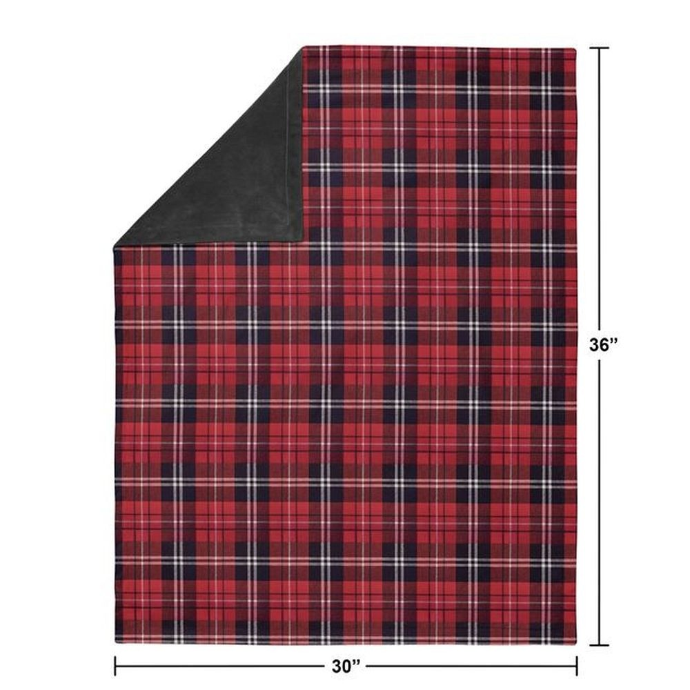 Rustic Patch Baby Blanket - Plaid