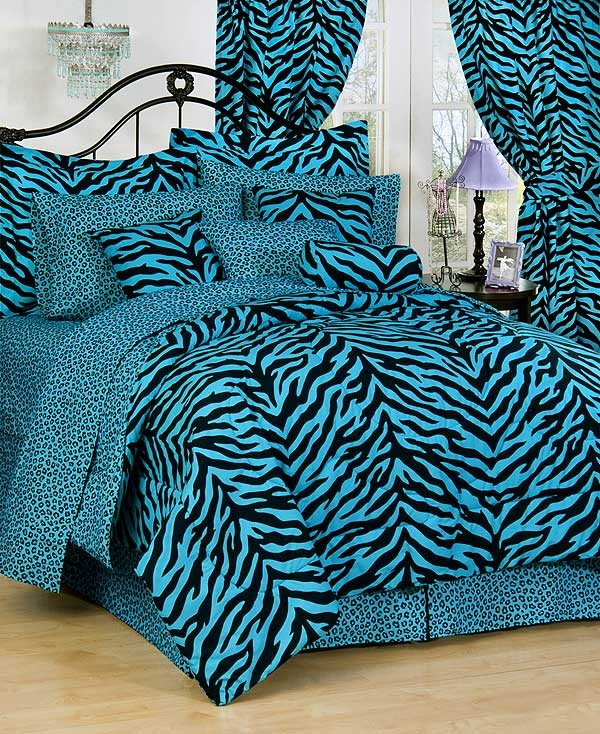 Zebra Print Bed in a Bag Set - Available in 7 Color Combinations ...