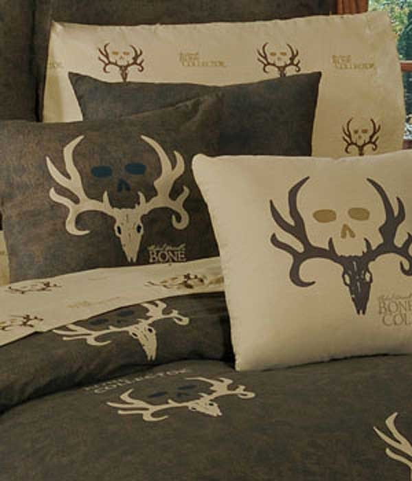 Bone Collector Square Pillow - Tan