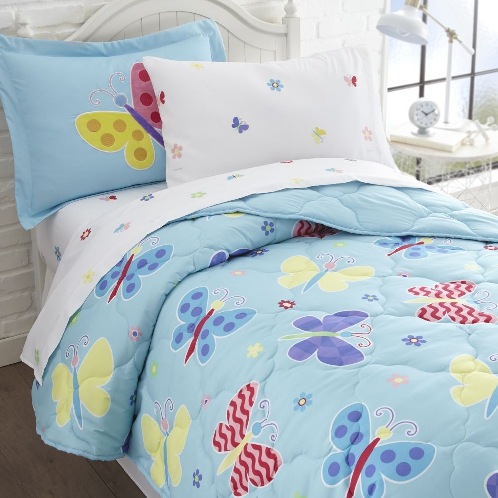 more photos 91cbc e9fff Olive Kids Butterfly Garden Twin Size 5 piece Bed in a Bag Set