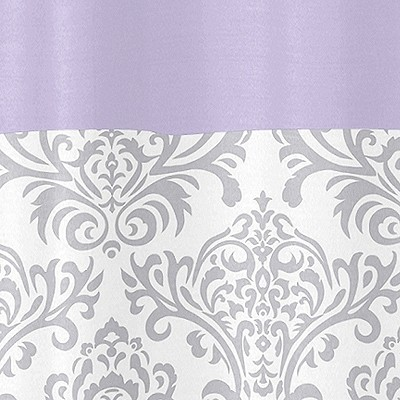 Elizabeth Lavender And Gray Shower Curtain