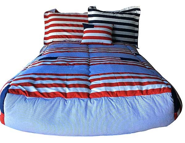 Red, White & Blue Patriotic Bunkbed Hugger Comforter by California Kids