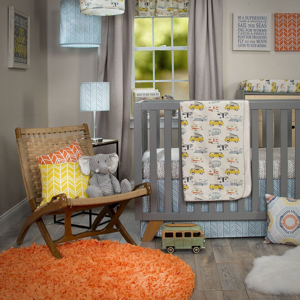 Happy Camper 3 Piece Crib Bedding Set from Sweet Potato