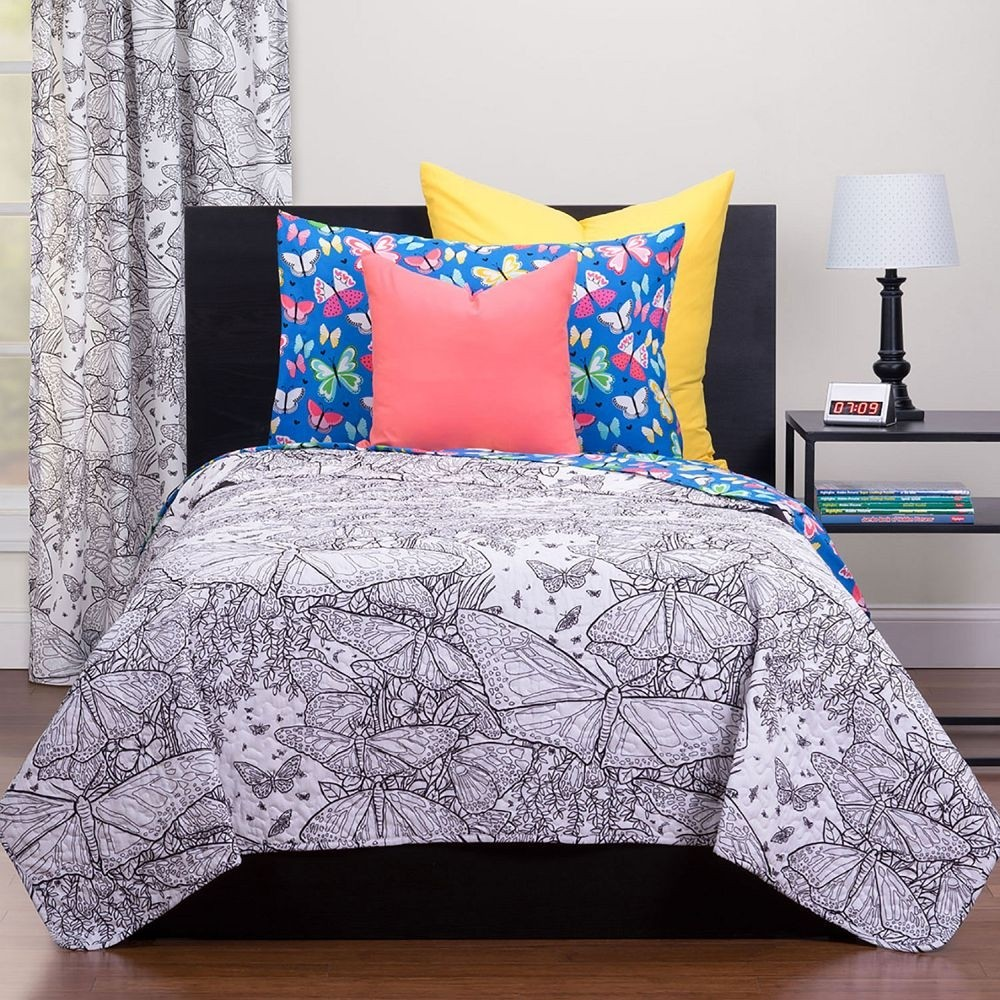 Beautiful Butterflies Puzzle Quilt - Highlights Hidden Pictures Collection - with washable markers. Available in Twin and Full/Queen