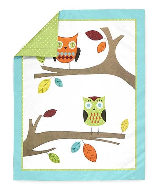 Hooty The Owl Crib Bedding Set By Sweet Jojo Designs 9 Piece