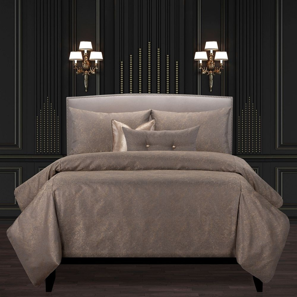 Jazz Club Bronze Comforter Set - F. Scott Fitzgerald Bedding Collection