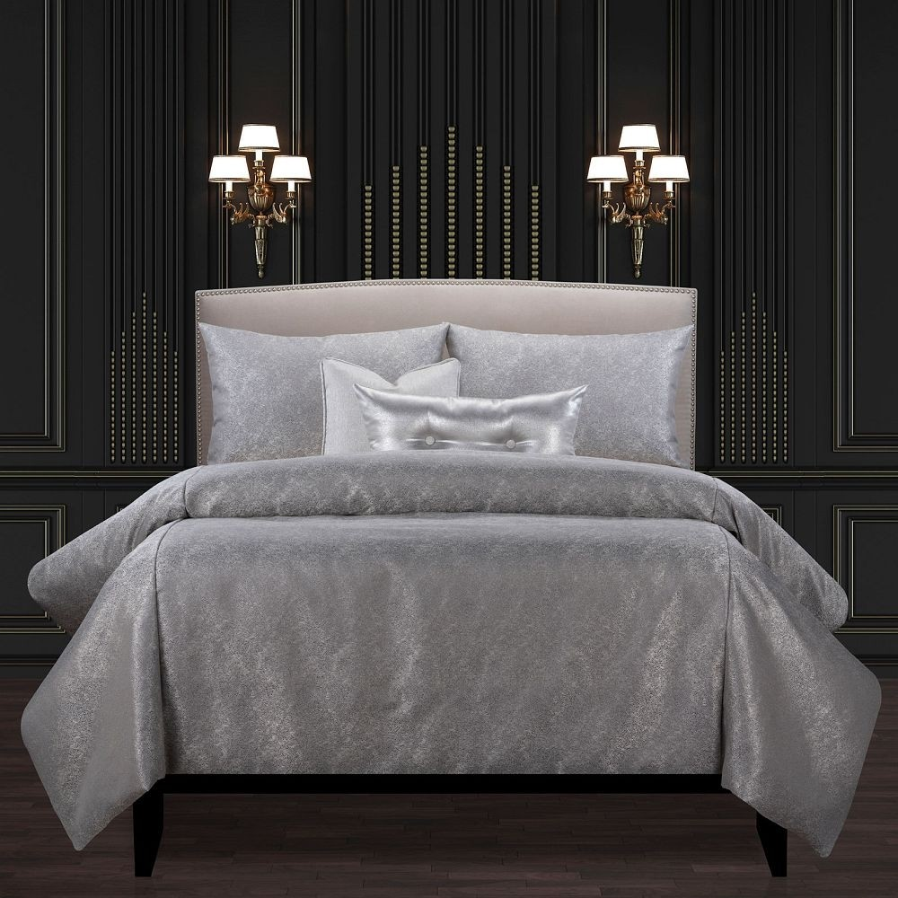Jazz Club Silver Comforter Set - F. Scott Fitzgerald Signature Collection