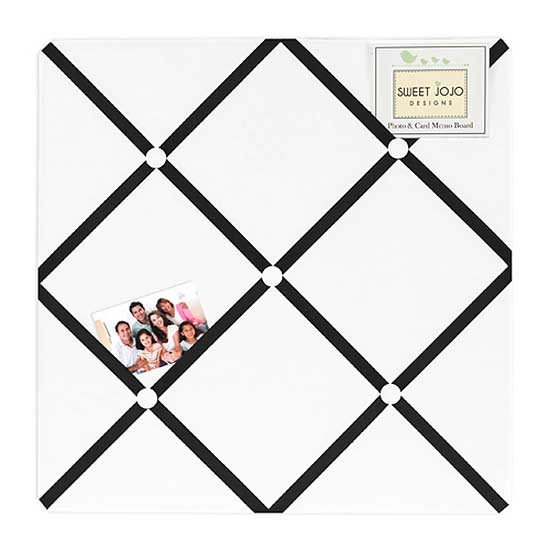 Hotel White & Black Fabric Memo Board