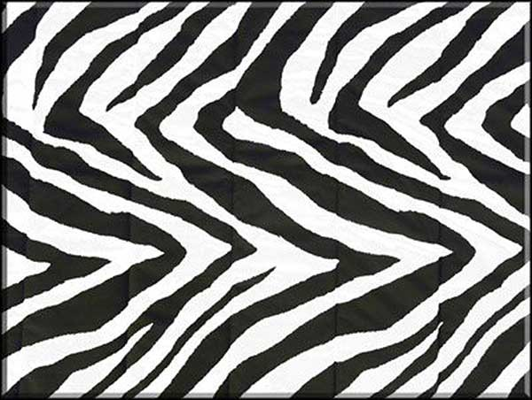Bunkbed Sheets - Black & White Zebra Print - Full Size - Left Opening