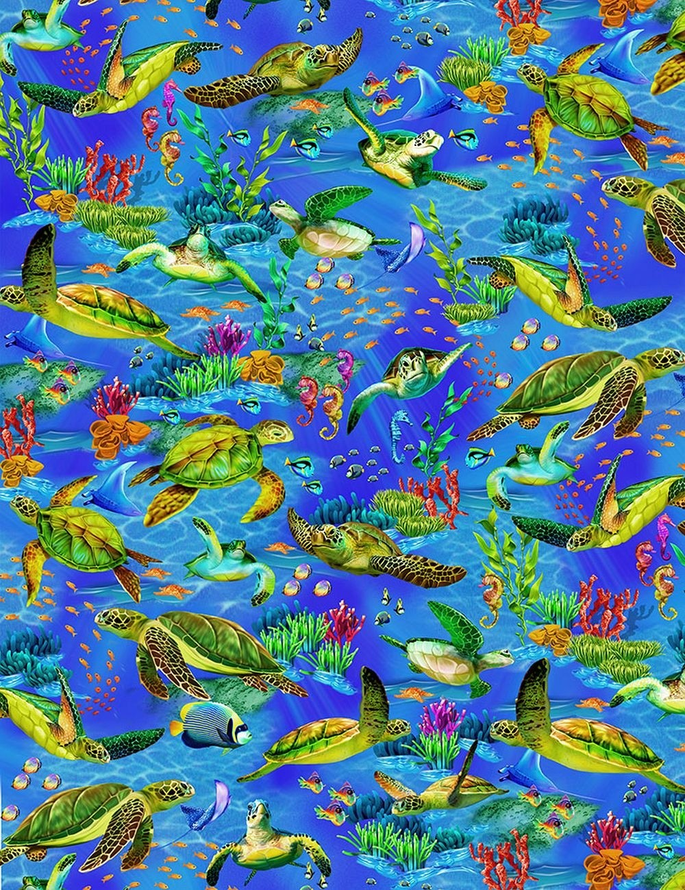Sea Turtle Comforter by California Kids