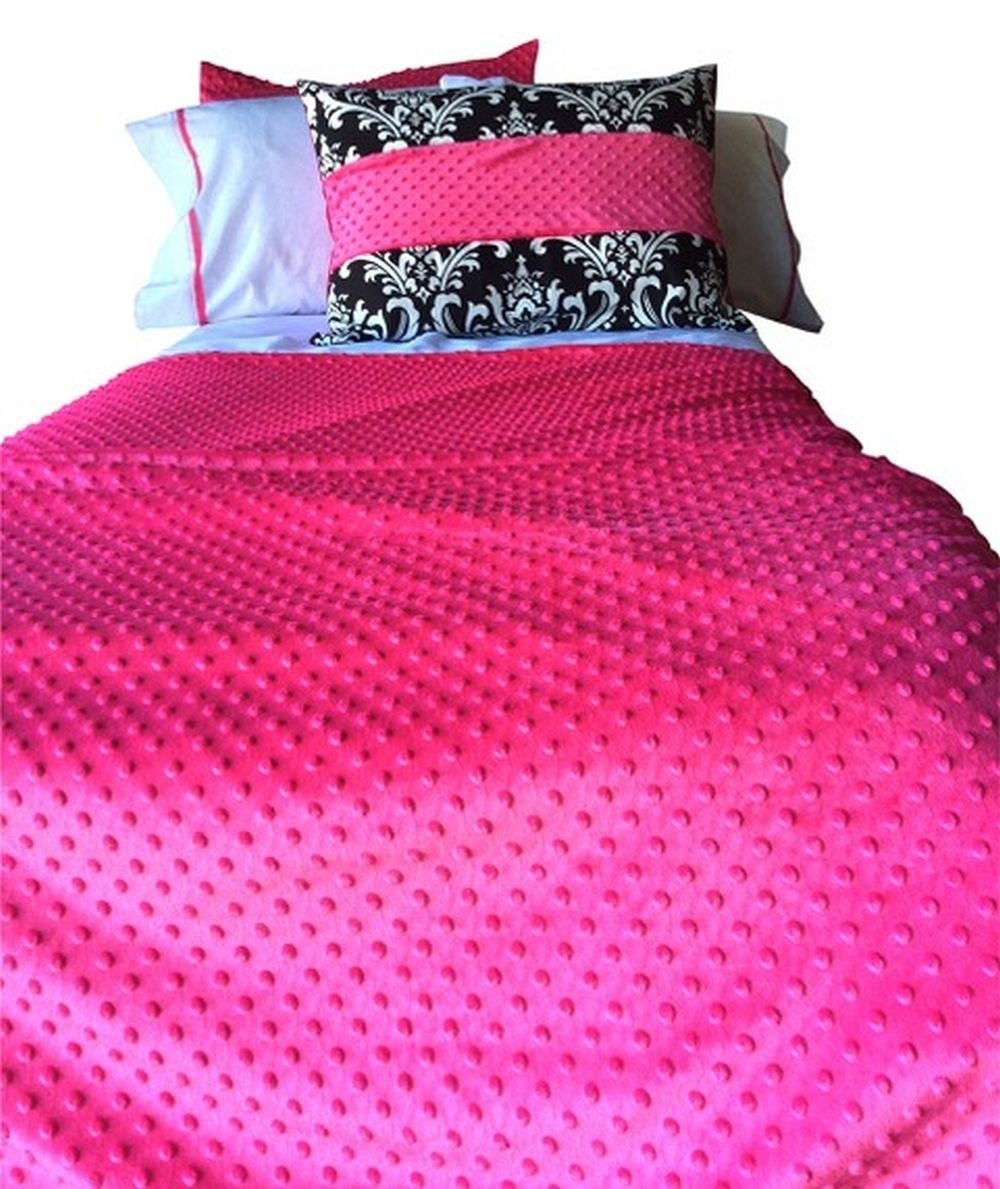 Hot Pink Minky 4 Corner Fitted Comforter 4 Sided Hugger Comforters Bunk Bed Cap Bedding For Daybeds Boats Rv S And Loft Beds California Kids Calkids Blanket Warehouse