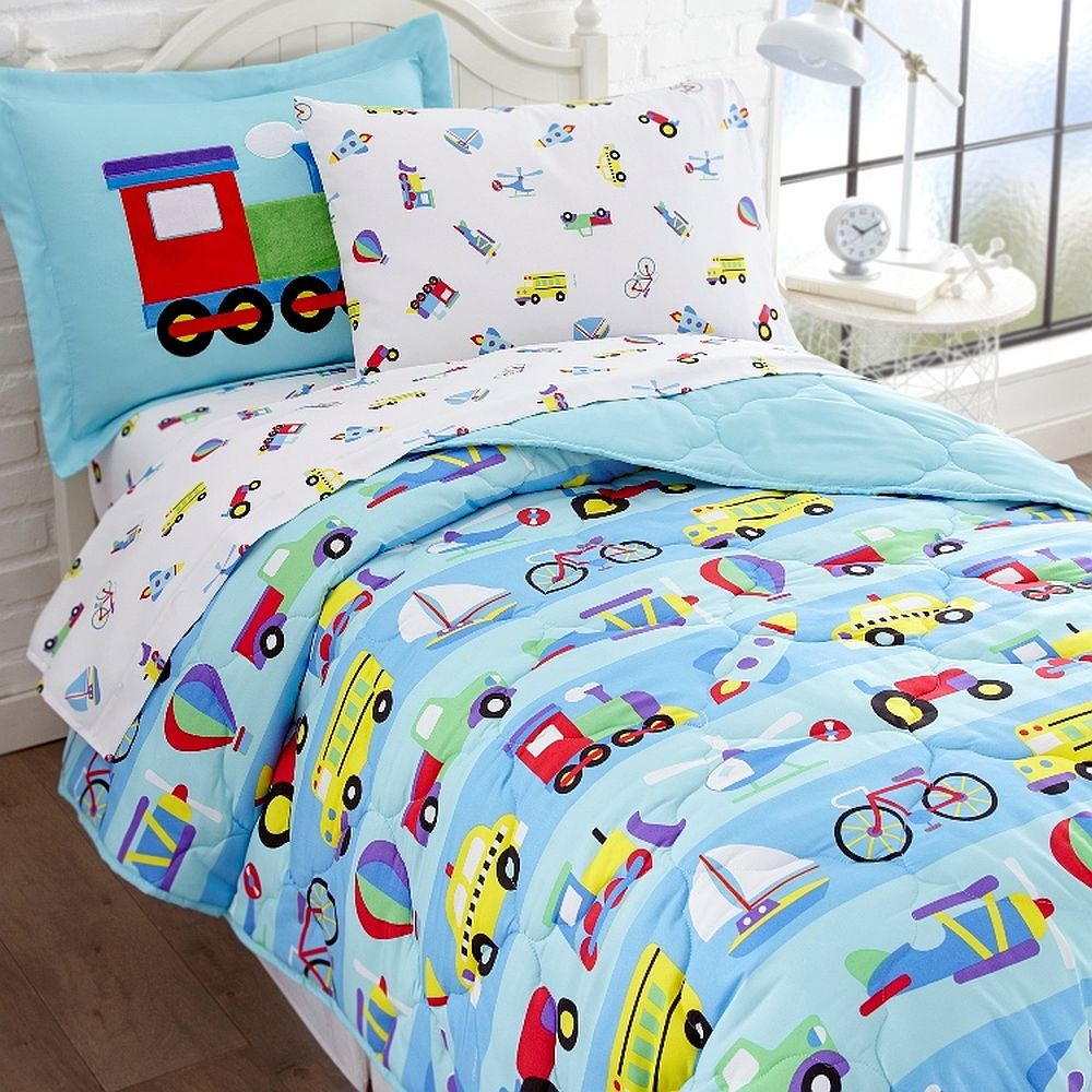 Olive Kids On The Go Twin Size 5 piece Bed in a Bag Set ...