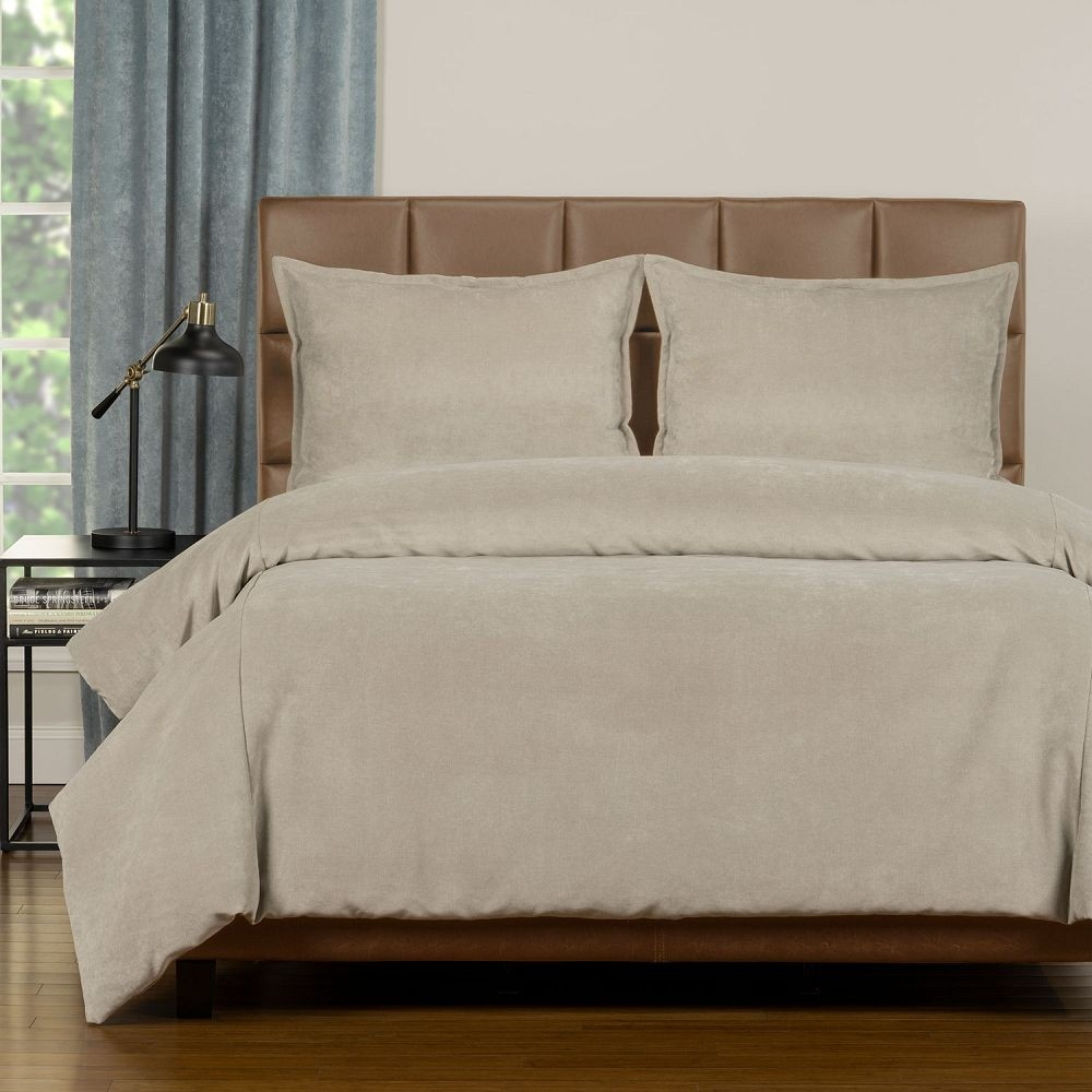 Duvet Cover Set from the Mixology Collection - King Size - Harbor Gray