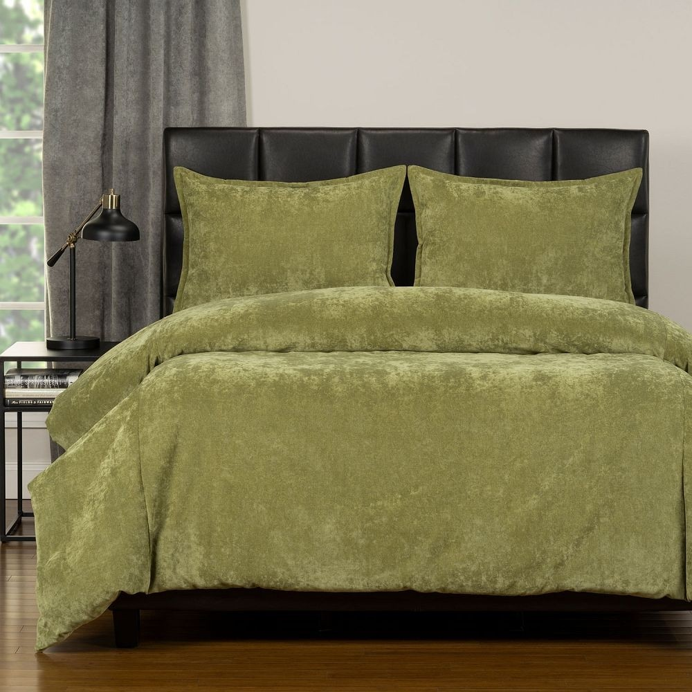 Duvet Cover Set from the Mixology Collection - King Size - Olive