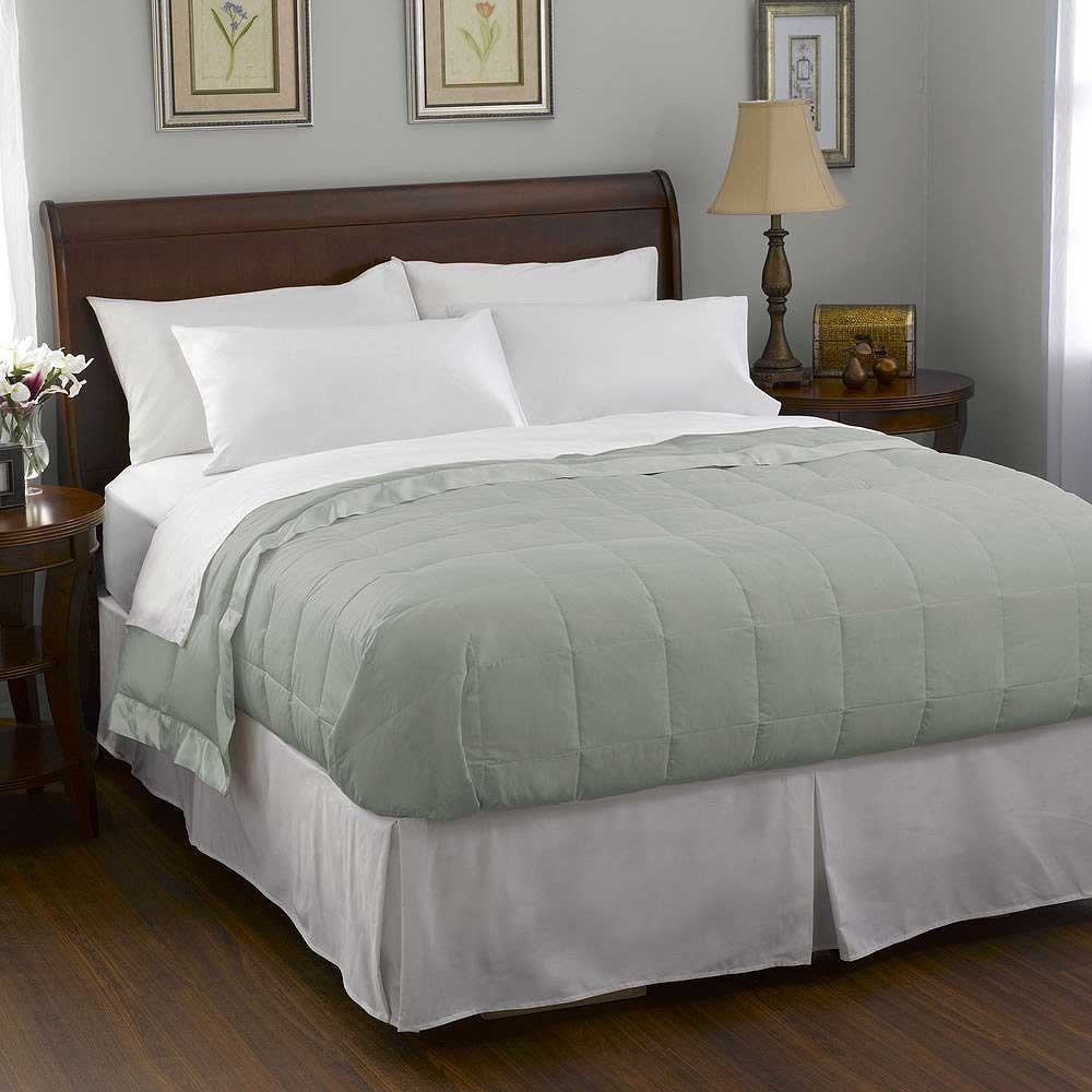 Pacific Coast Satin Trim Down Blanket - Clover - Full Size