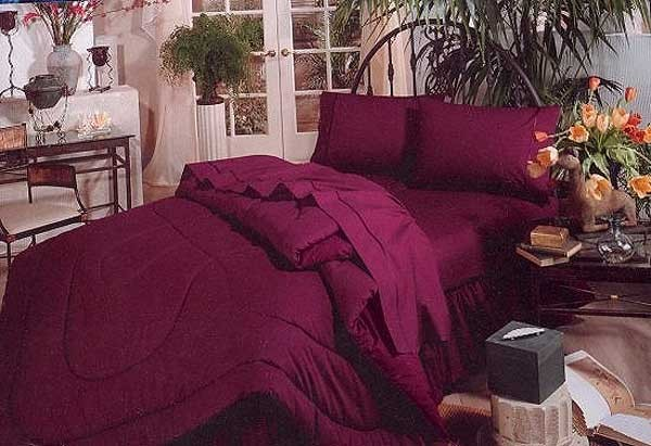 200 Thread Count Two-Tone Reversible Waterbed Comforter - Choose from 18 Colors & Prints