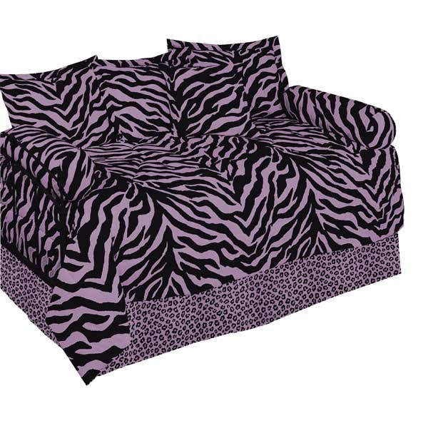 Pink Zebra Print Daybed Cover Set