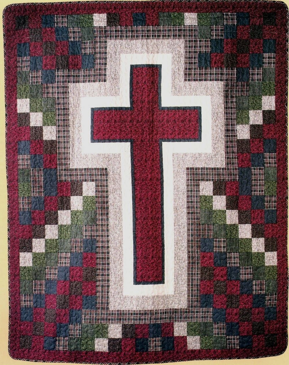 Rustic Cross Throw Size Quilt