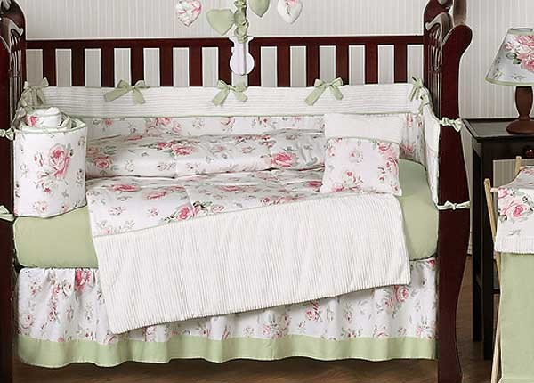 9e4e00af3ecc6 Rileys Roses Crib Bedding Set by Sweet Jojo Designs - 9 piece ...