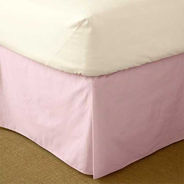 """200 Thread Count Solid Color Tailored Dust Ruffle (21"""" Drop) - Choose from 18 Colors"""