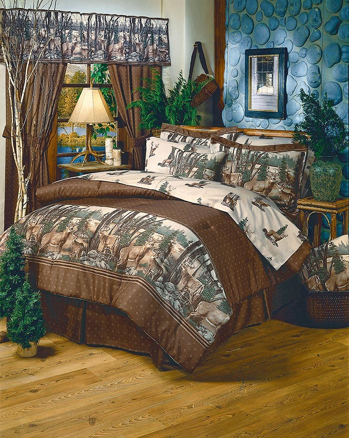 Whitetail Dreams Cabin Themed Bedding Set