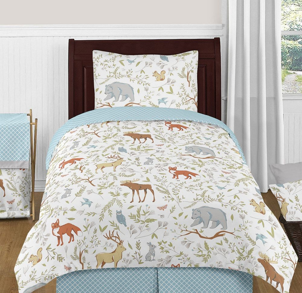 Woodland Toile Bedding Set 4 Piece Twin Size By Sweet