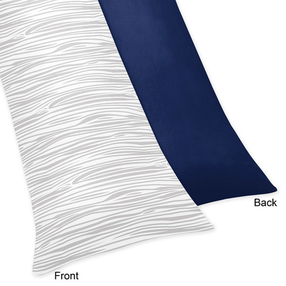 Woodsy Navy, Mint & Grey Body Pillow Cover