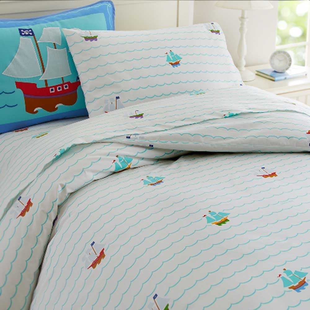 Pirates Twin Size Duvet Cover by Olive Kids