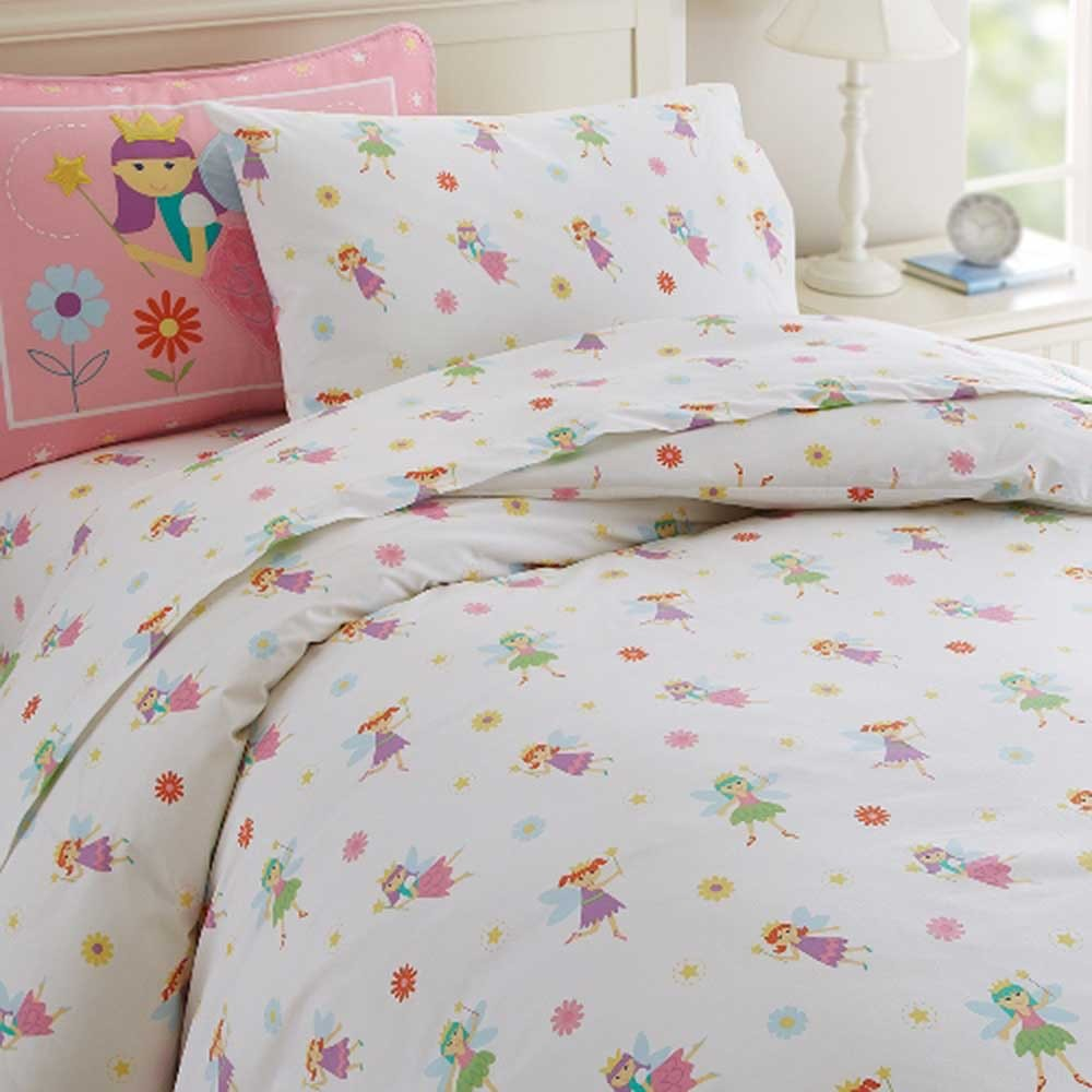 Olive Kids Bedding Fairy Princess Twin Size Duvet Cover Girls Bedding Blanket Warehouse