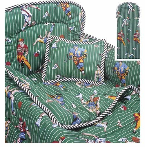 World Cup Sports 4 Piece Crib Bedding Set by California Kids