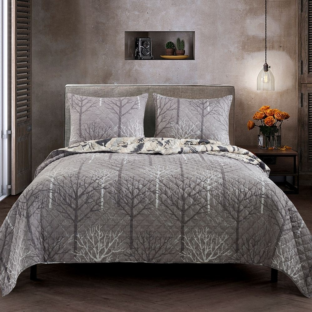 Forest Weave Quilt Set - Queen Size