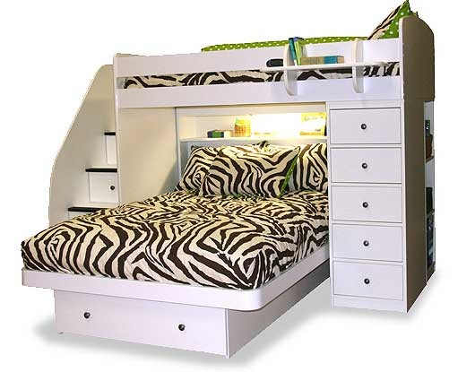 Zebby Zebra Print Bunkbed Hugger with 4 Fitted Corners