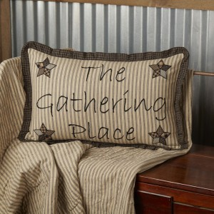 Farmhouse Star Gathering Place Pillow 14x22