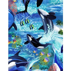 Killerwhales 4 Fitted Corners Hugger Comforters by California Kids